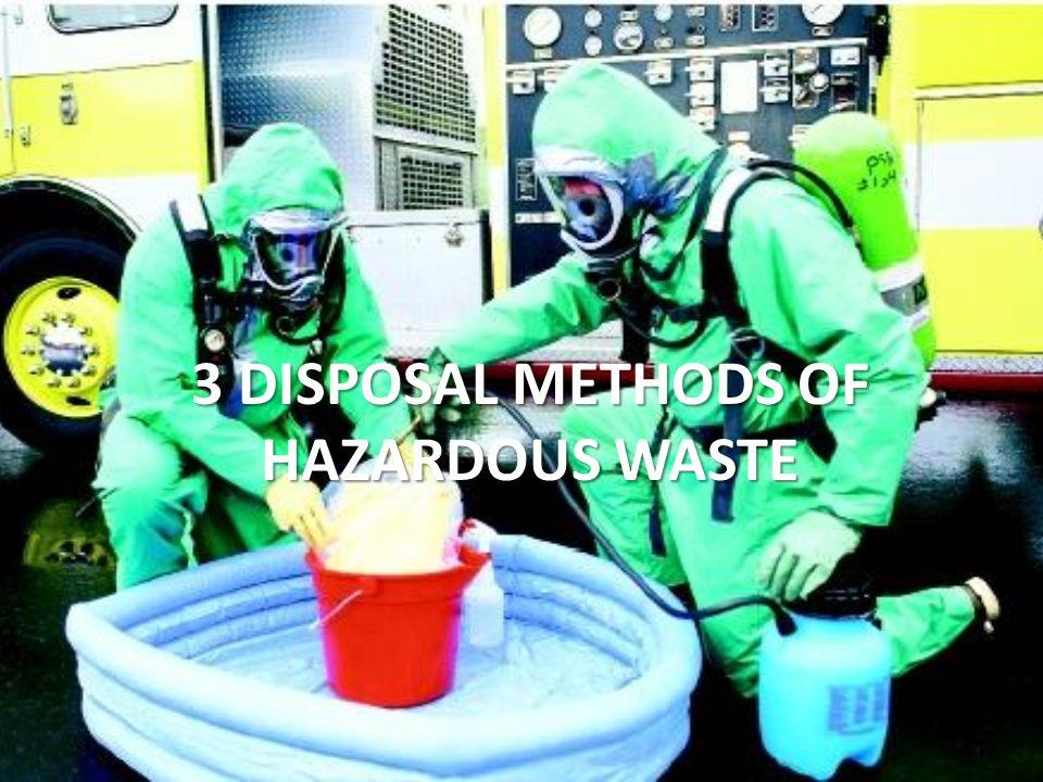 hazardous waste disposal methods pdf
