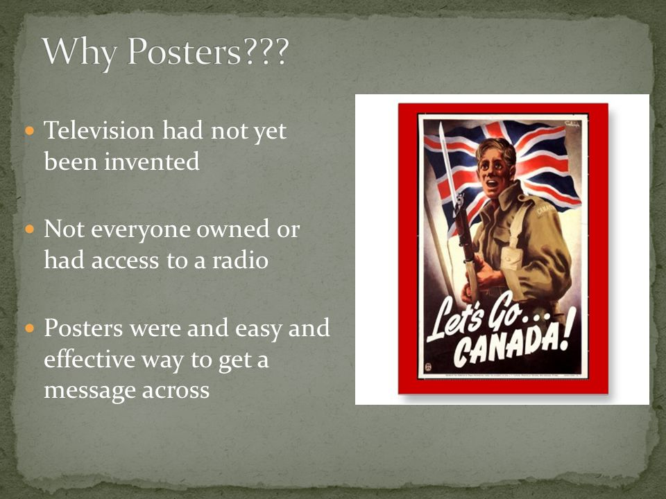 Why Posters Television had not yet been invented