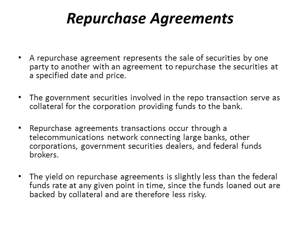 Repurchase Agreement Definition Image Collections Agreement Letter