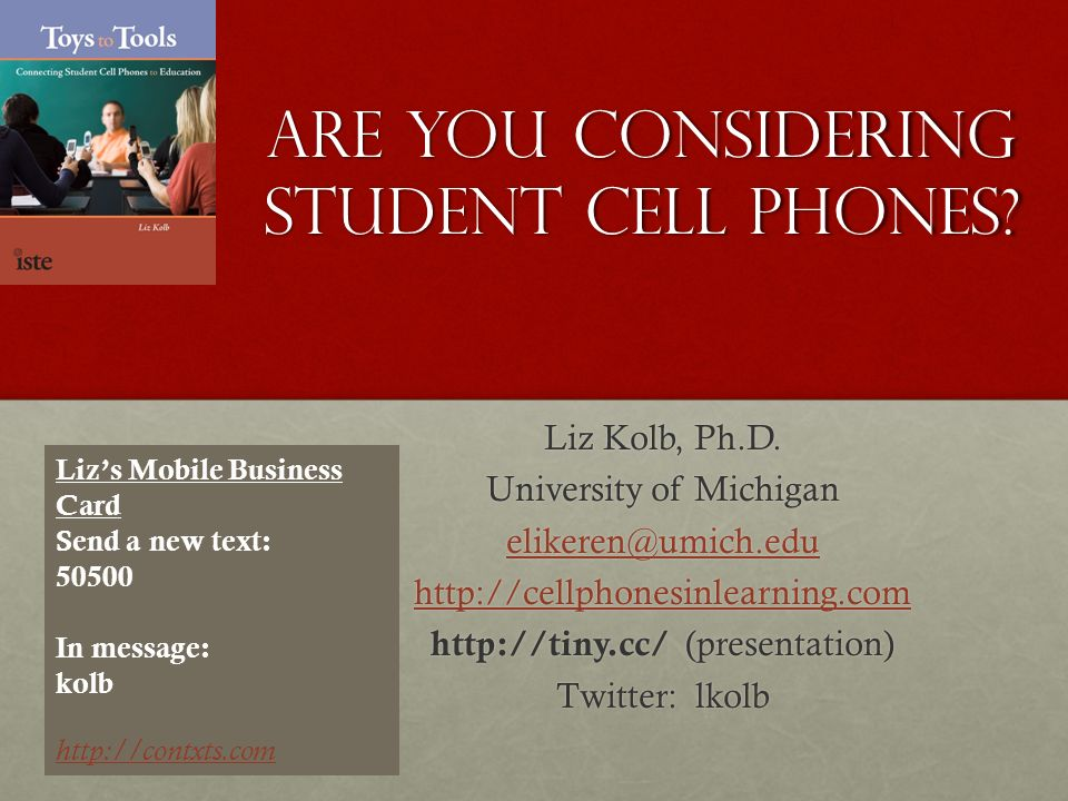 Are You Considering Student Cell Phones? - ppt video online download