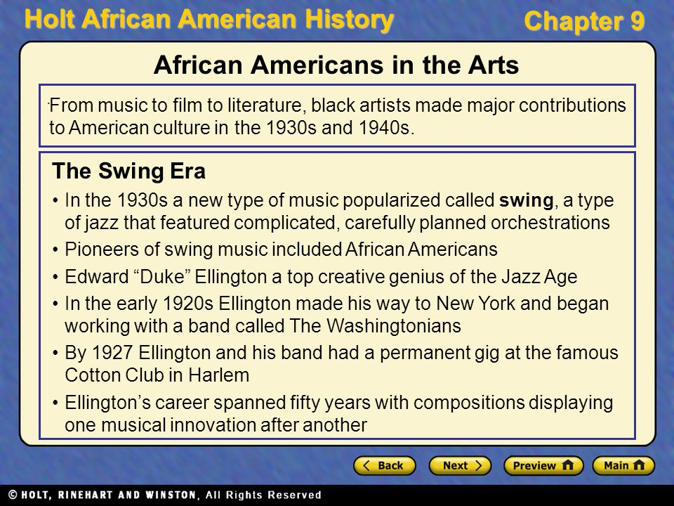 african american contributions to the music world from swing to bebop • jazz -- key styles: dixieland, swing, bebop  of this guys african american cultural contributions completely  music is not african american.