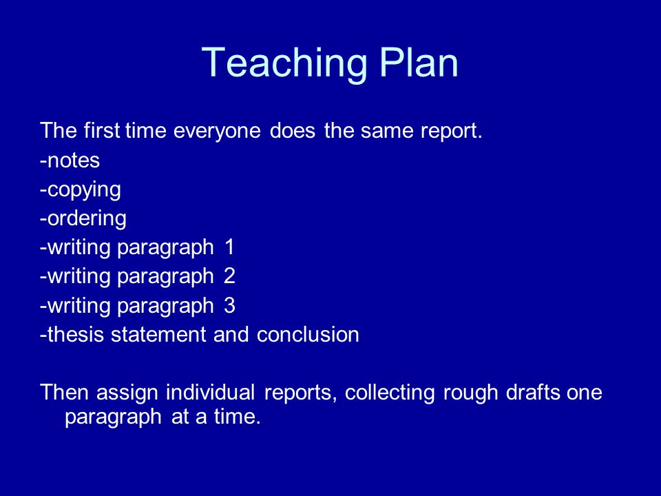 a report on thesis statement and conclusion