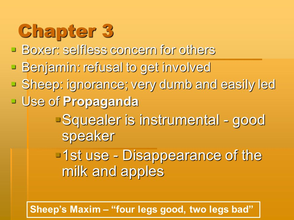 squealer propaganda essay Squealer s role in animal farm essay  through the use of the character squealer, demonstrates how propaganda can influence members of a.