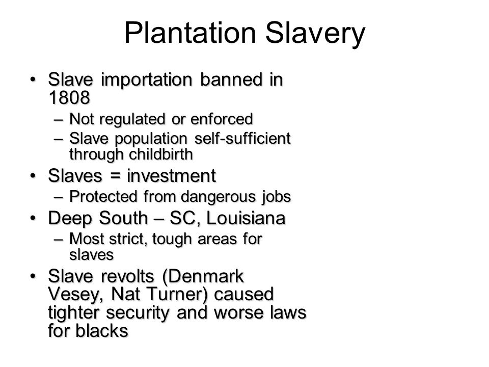 the impact that the slave system had on the condition of poor whites in the south All these whites without slaves had no direct stake in the preservation of slavery, yet they were among the stoutest defenders of the slave system that existed in the south the south and the slavery controversy, 1793-1860 nice work previous chapter next chapter.