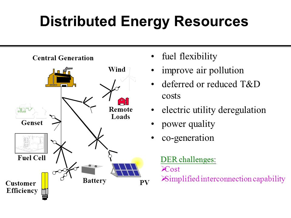 Promotion Of Distributed Generation And Renewable Energy