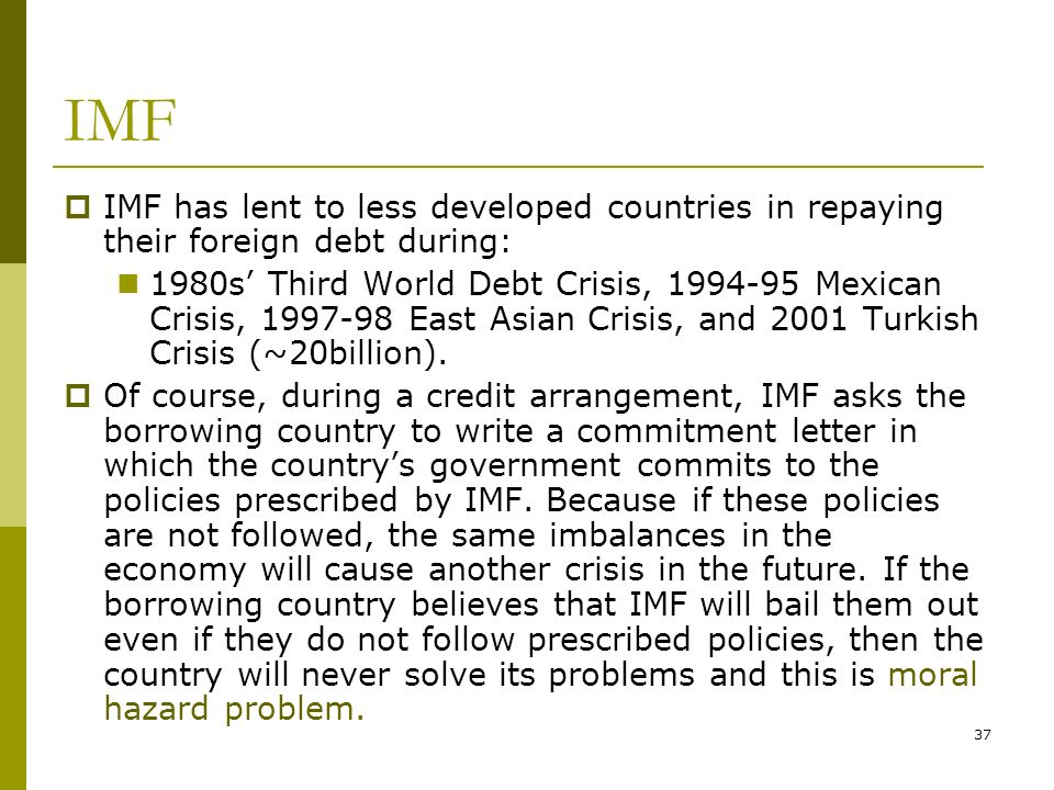 """third world countries debt crisis essay During the latin american debt crisis of the 1980s—a period often referred to as  the """"lost  criticized commercial banks for assuming excessive risk in their third  world lending (fdic 1997)  the latin american countries soon found their  debt burdens unsustainable (devlin and ffrench-davis 1995)  related essays."""