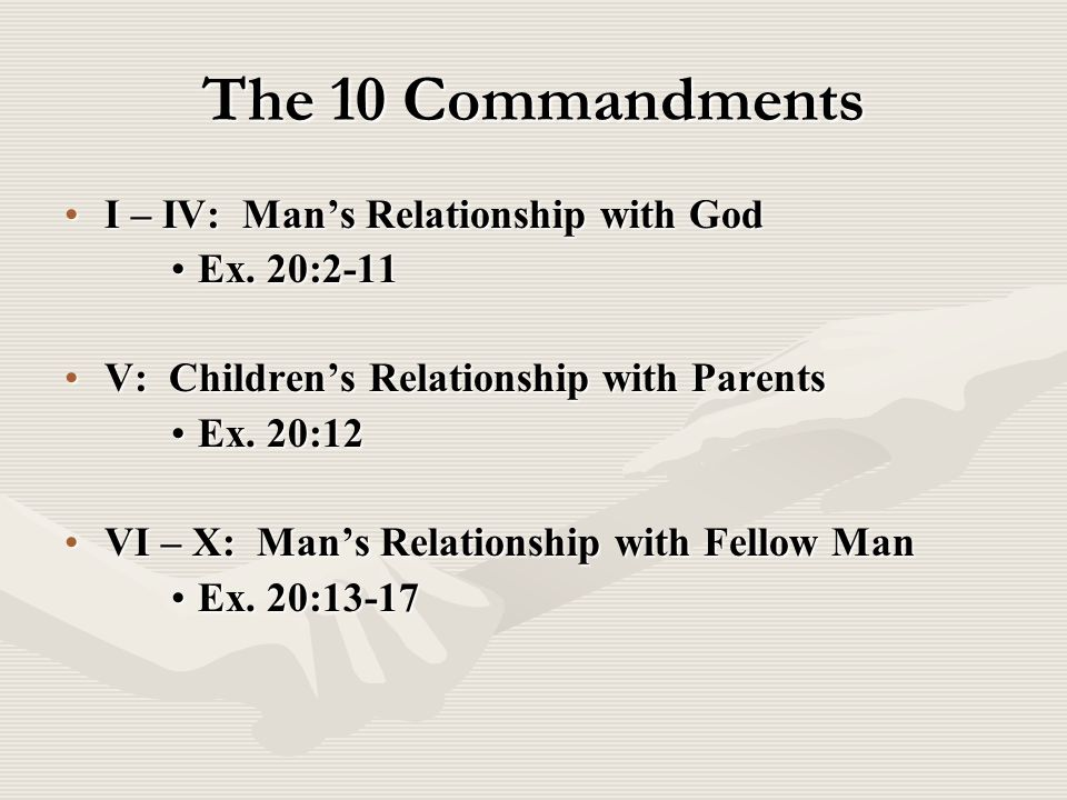 the ten commandments god and man relationship