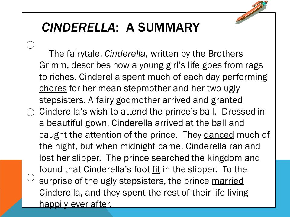 cinderella synopsis A live-action feature inspired by the classic fairy tale, cinderella brings to life the timeless images from disney's 1950 animated masterpiece as fully-realized characters in a visually-dazzling spectacle for a whole new generation cinderella synopsis.