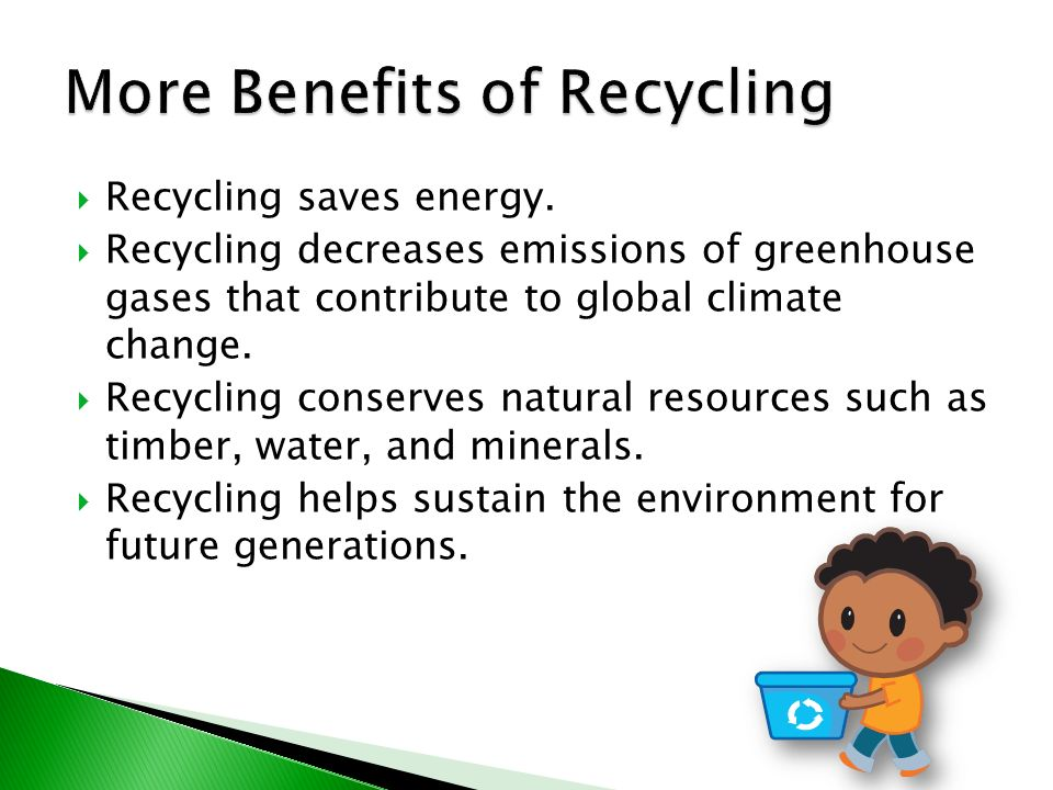 benefits of recycling paper Students will not only learn the benefits of recycling and sustainable living  practices  it is easy to set up a worm bin in the classroom where shredded  paper and.