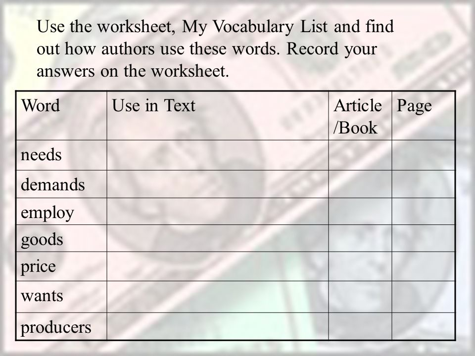 Dimensional Analysis Worksheet 1 Excel Reading In The Content Areas  Ppt Download Multiply By Tens Worksheet with Maths Year 4 Worksheets Use The Worksheet My Vocabulary List And Find Out How Authors Use These  Words Financial Worksheet Template Excel