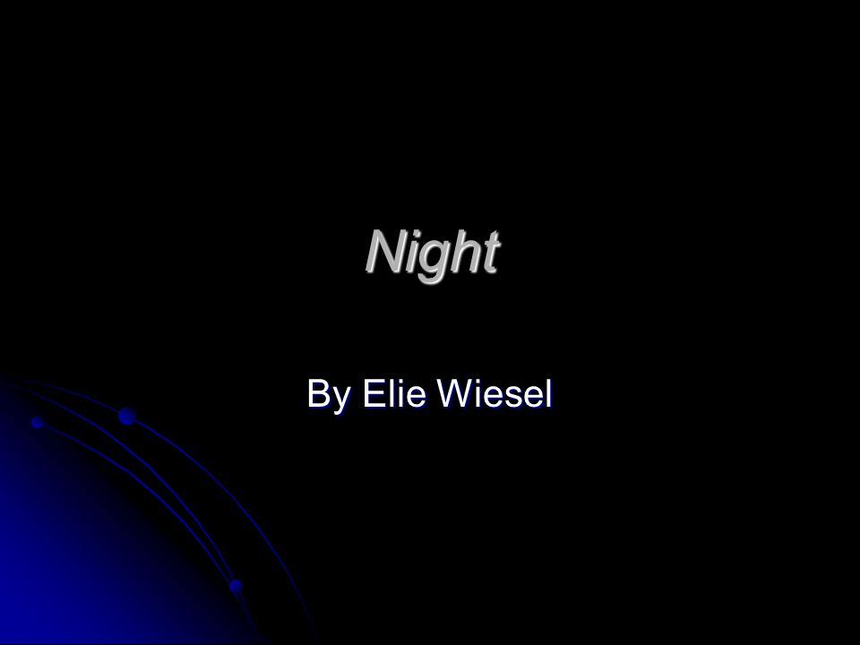 "night elie wiesel oral faith ""my first visit to his court lasted almost an entire night,"" writes elie wiesel in his  memoirs regarding  i asked whether one could love g‑d without having faith."