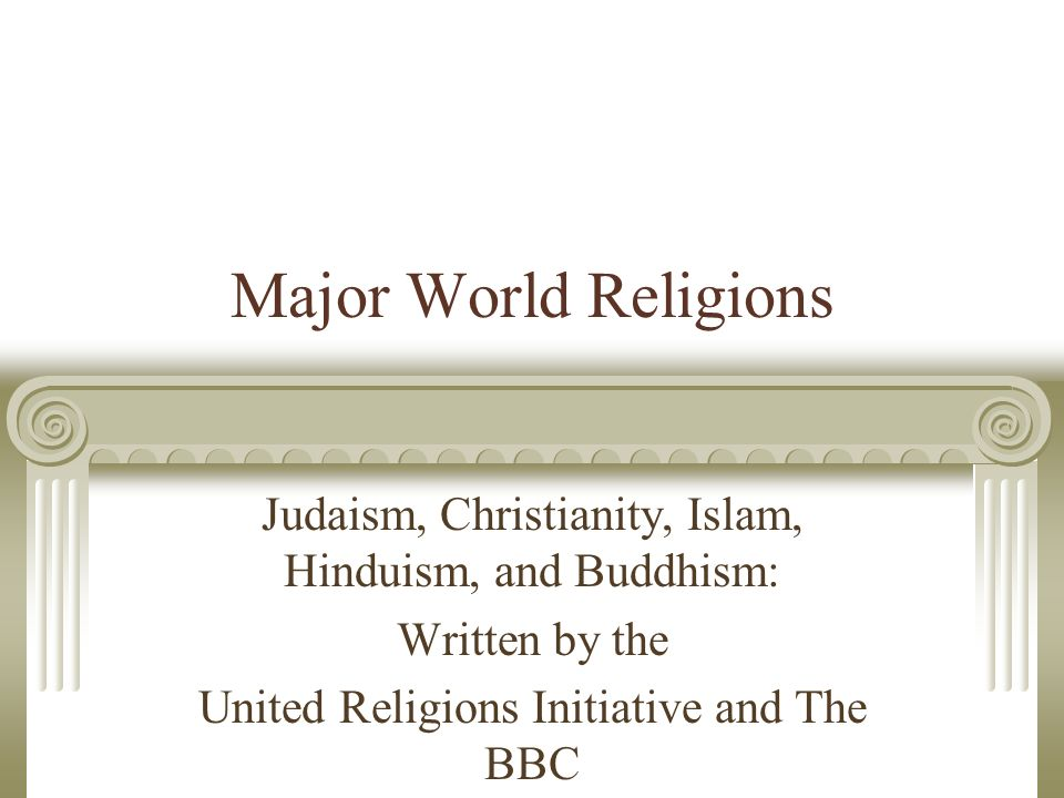 a comparison of judaism and christianity two world religions The big religion chart this big religion chart is our attempt to summarize the major religions and belief systems of the world - buddhism, christianity, hinduism, islam, judaism, and dozens more - into a quick-reference comparison chart.