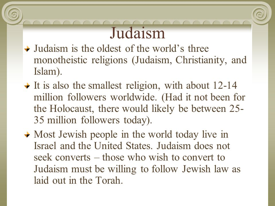 a comparison of the religions of judaism christianity and islam Bible discussion forum ask (or answer) bible questions here join or start a bible discussion now thread: comparison chart of all three religions: christianity, islam, judaism.