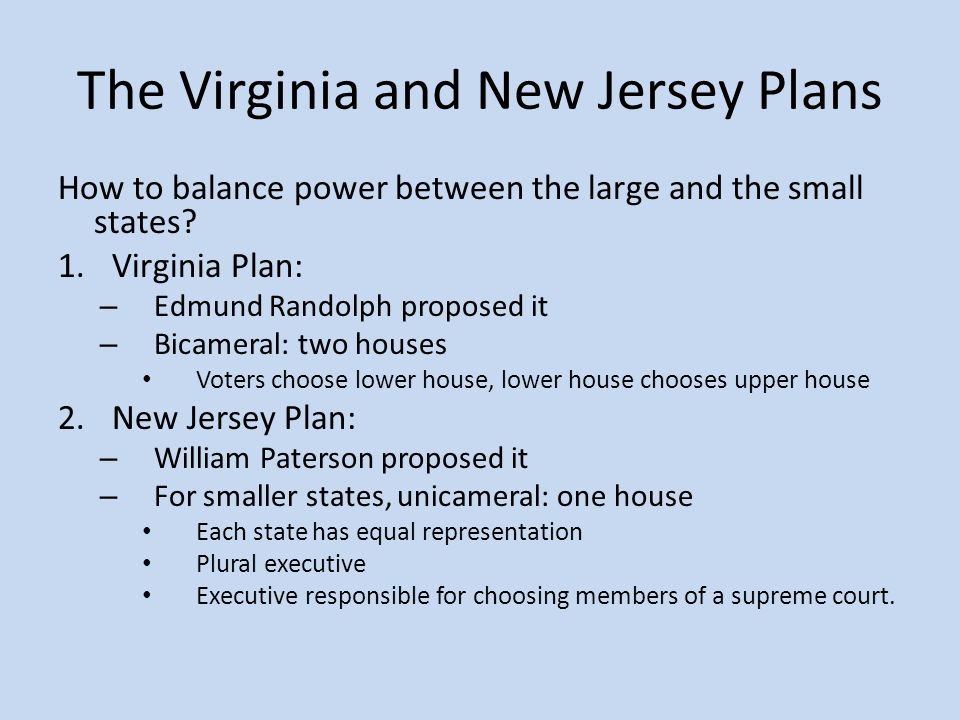 The virginia plan called for a two house legislature 28 for Virginia house plans