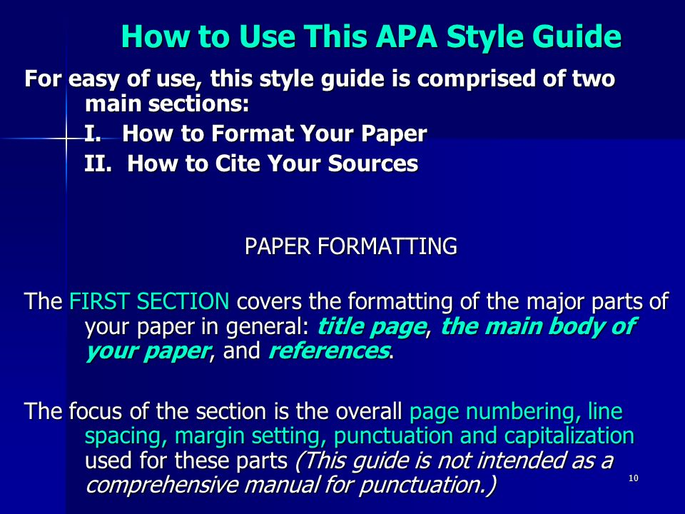 how to cite sources apa format