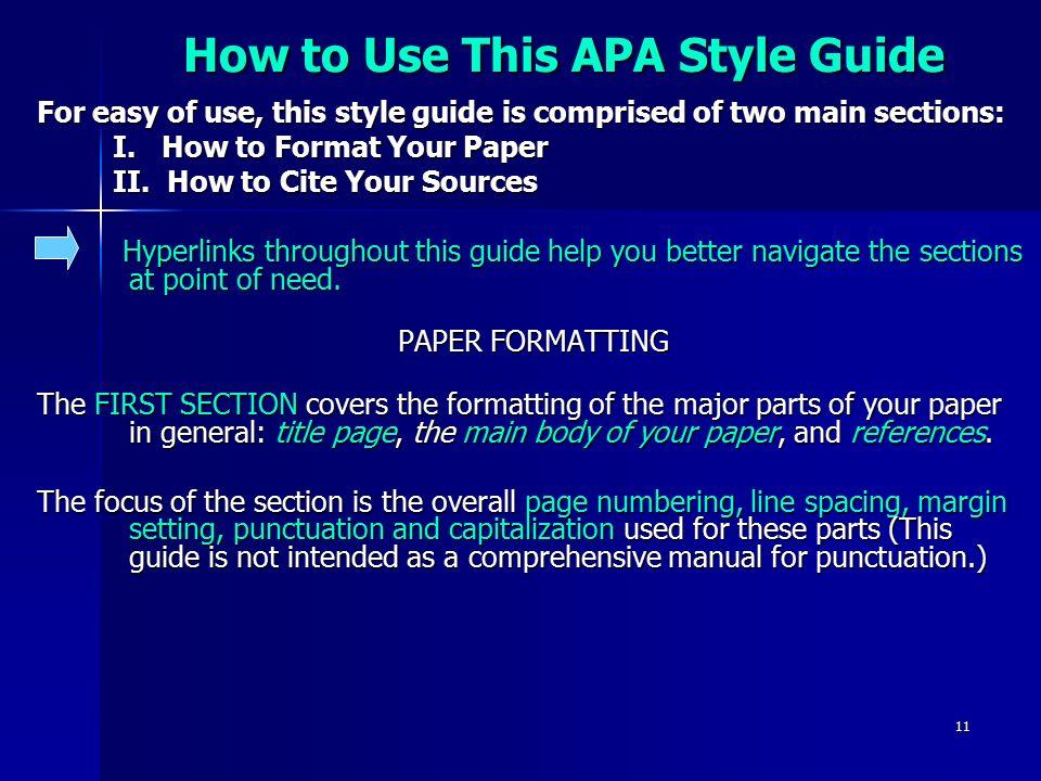 apa format easy