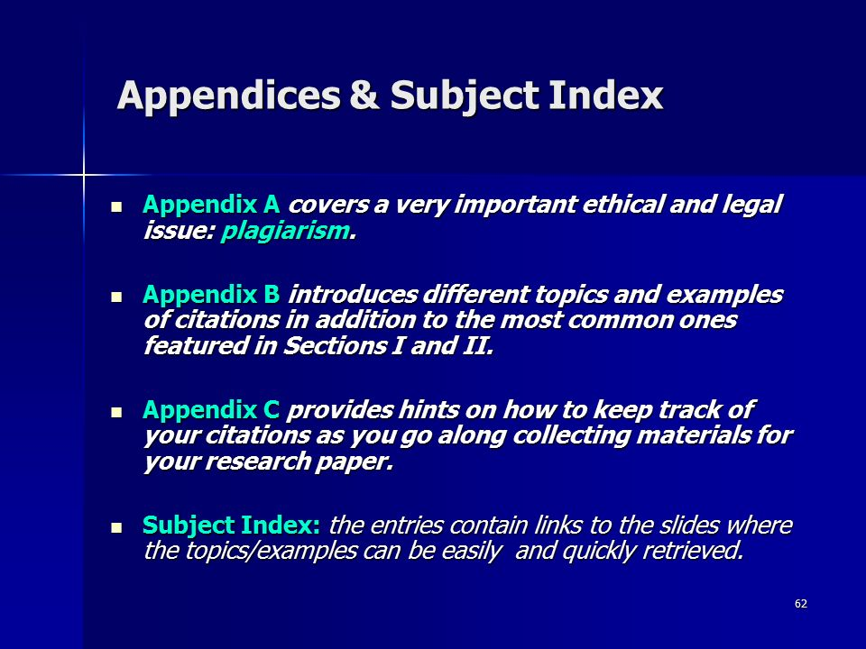 what are appendices in a research paper What is an appendix a section at the end of a paper that includes information that is too detailed for the text of the paper itself and would burden the reader or be distracting, or.