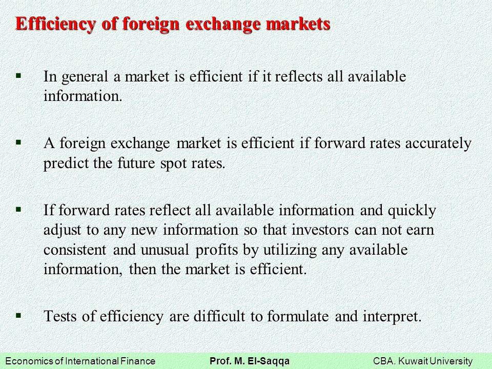 the forward currency exchange market essay Foreign currency risk and its management forward exchange contracts to buy or sell a given amount of currency at a fixed exchange rate.
