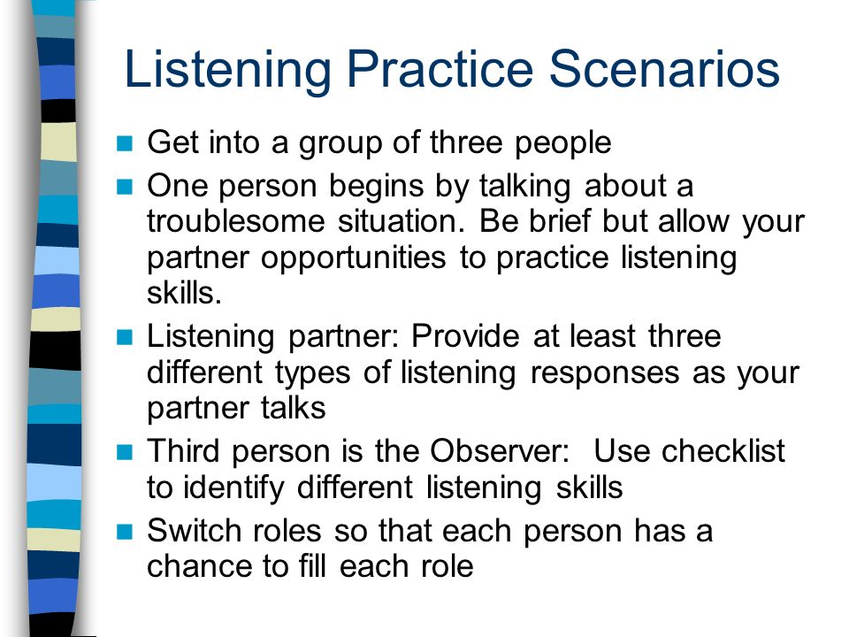 how to use basic counselling skills in different scenarios Chccsl006 select and use counselling  this unit describes the skills and knowledge required to select and use different counselling  scenarios that involve.