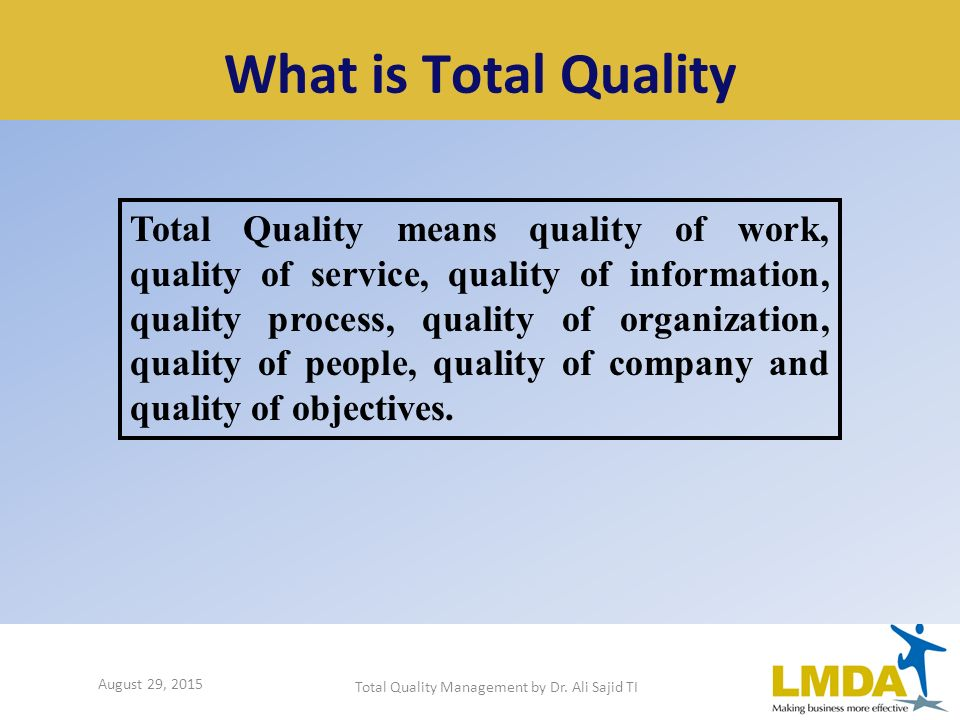 an introduction to total quality management in food service 28 total quality management and service quality delivery the introduction of total quality management has played an important role in food and providing other.
