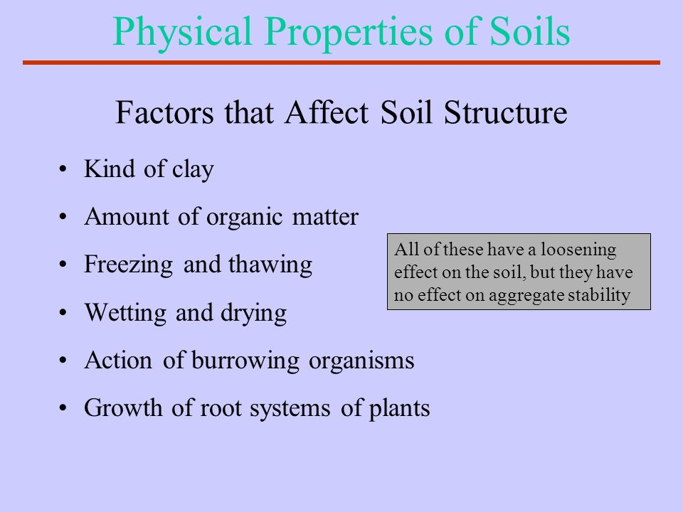 Factors that Affect Soil Structure
