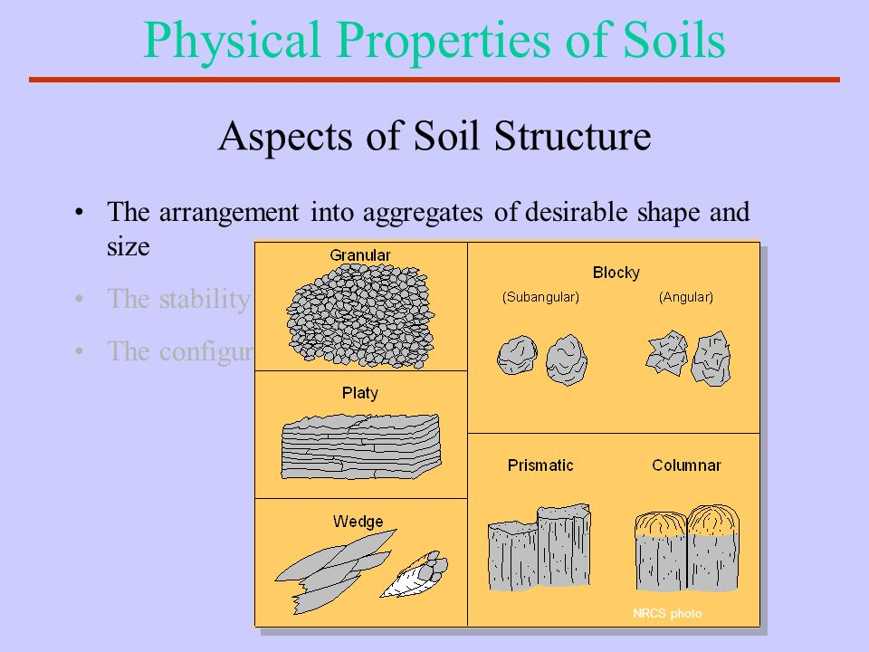 Aspects of Soil Structure
