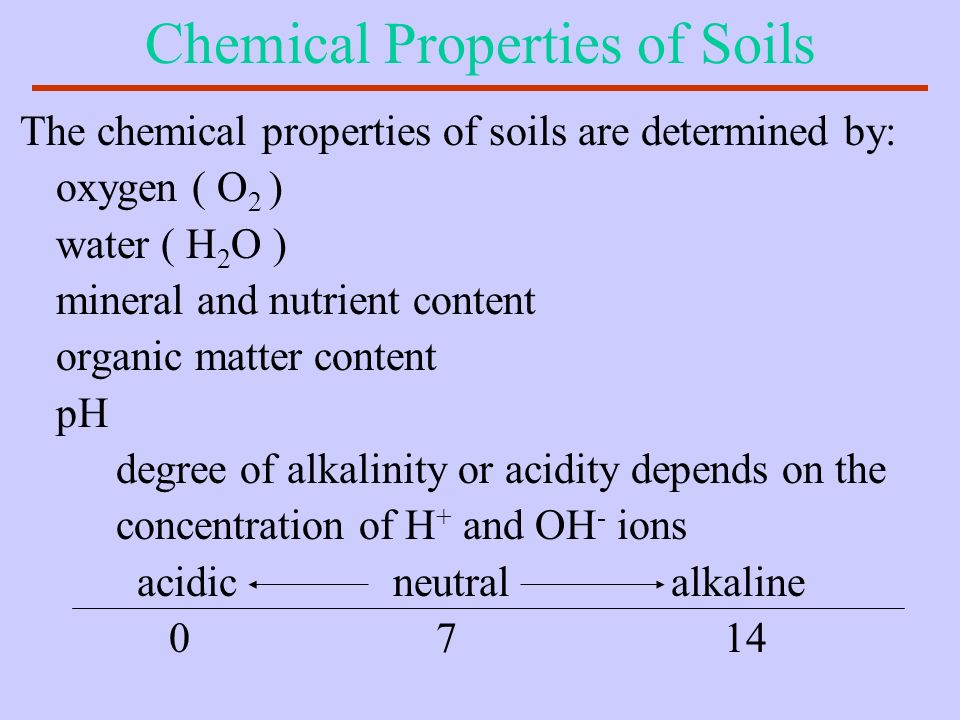 Chemical Properties of Soils