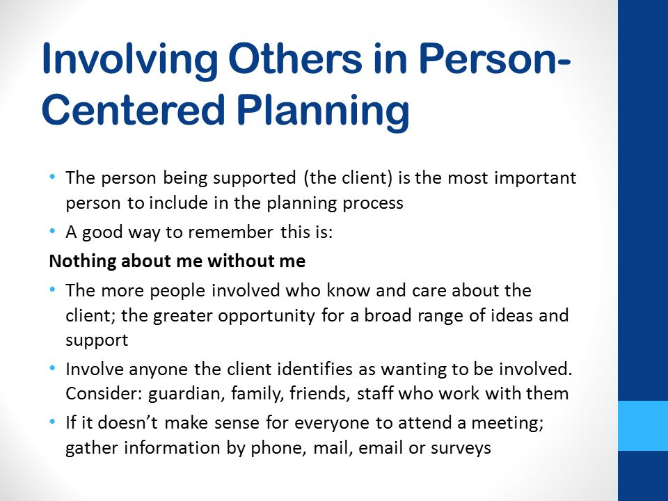 involving others in assessments The other two types of written assessment both involve constructed in other cases, assessment is based on a final product or oral presentation for.