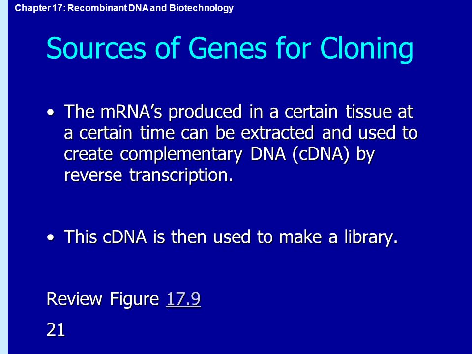 Sources of Genes for Cloning