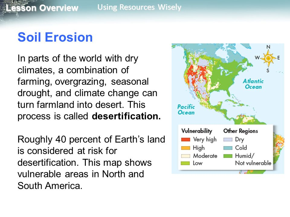 62 Using Resources Wisely Ppt Video Online Download - Desertification Us Soil Erosion Map Us