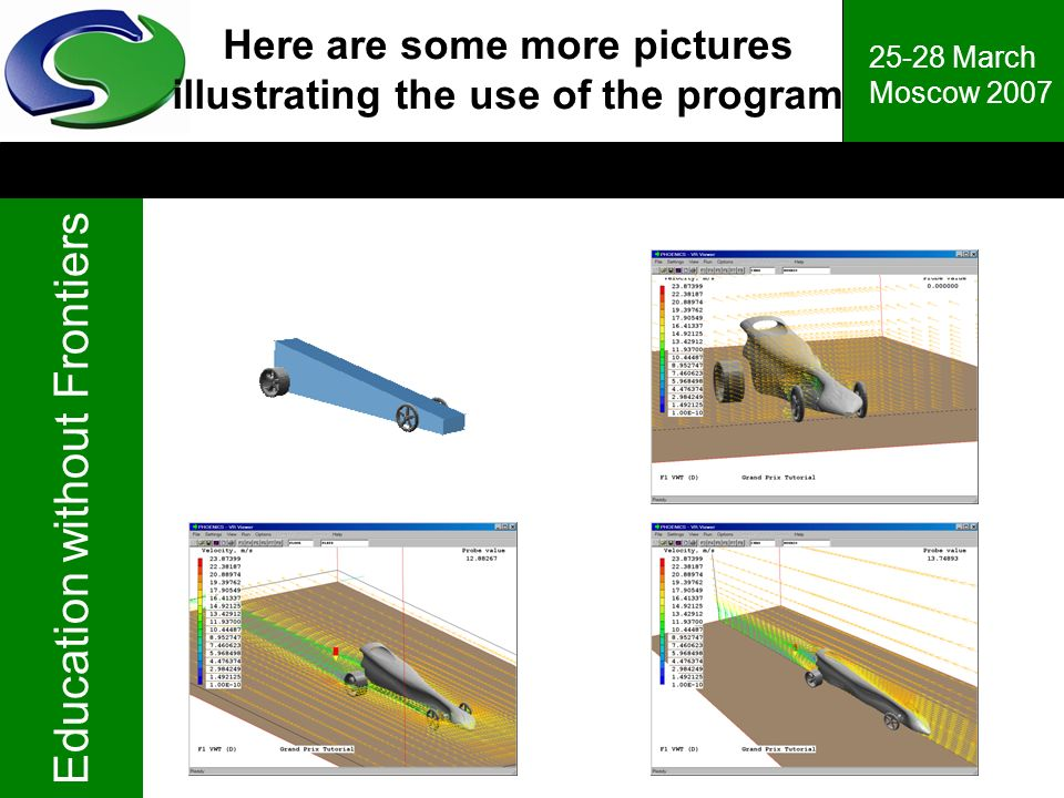 Here are some more pictures illustrating the use of the program