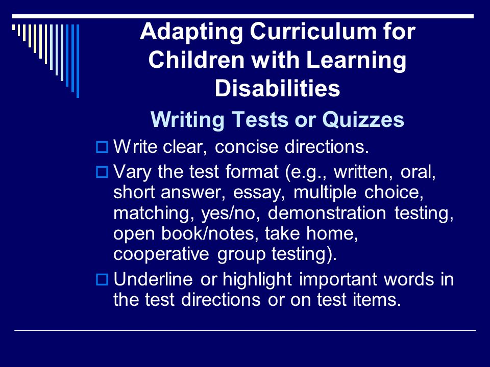 essay on children with learning disabilities College admissions and learning disablities by lynn o'shaughnessy on august 12, 2012 in academic quality , academics , admissions , college readiness does your teenager have a learning disability .