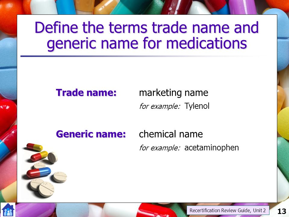 Generic Definition Example