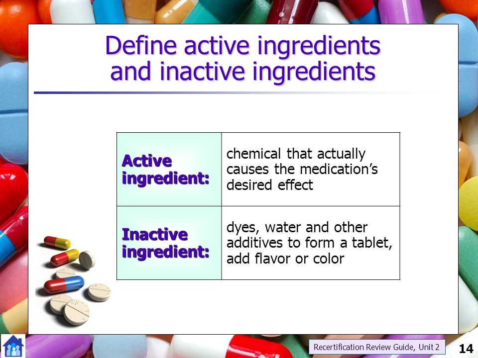 how to find inactive ingredients in medications