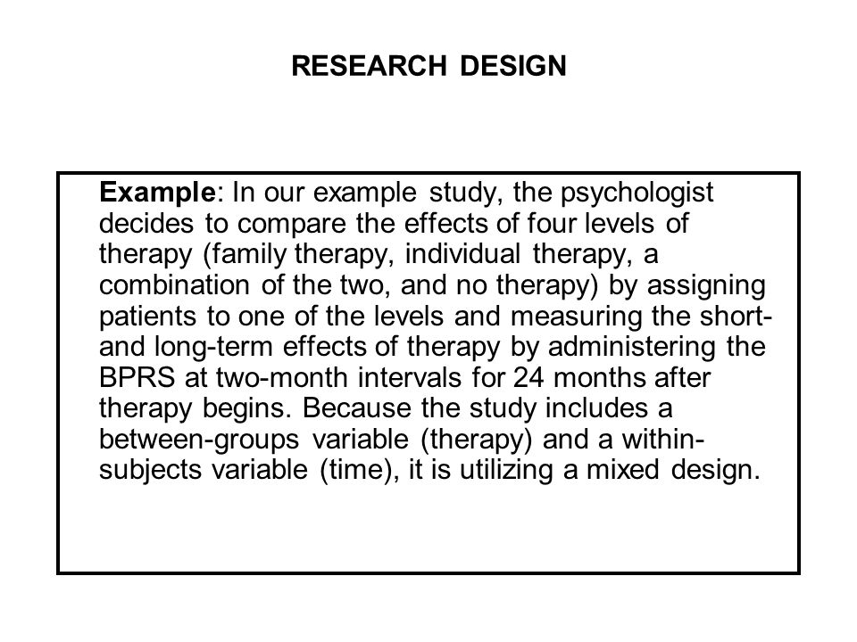 Research Design Exle 28 Images Types Of Research Design For