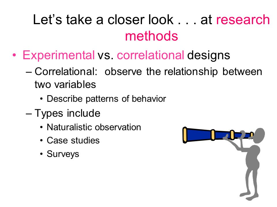 the difference between correlational studies and an experiment Internal validity one of the keys to understanding internal validity (iv) is the recognition that when it is associated with experimental research it refers both to how well the study was run (research design, operational definitions used, how variables were measured, what was/wasn't measured, etc), and how confidently one can conclude that.
