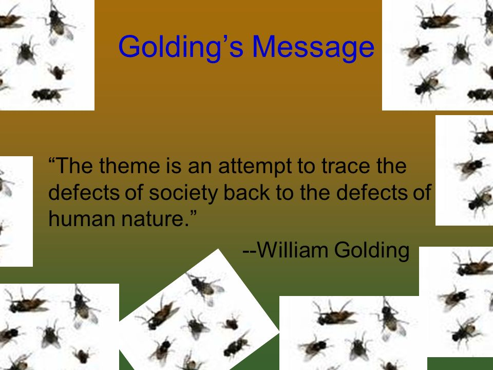 an analysis of human nature in the lord of the flies by william golding Lord of the flies, nobel prize-winner william golding's 1954 dystopian novel, allegorizes the story of schoolboys marooned on an island to investigate mankind's inherent savagery.