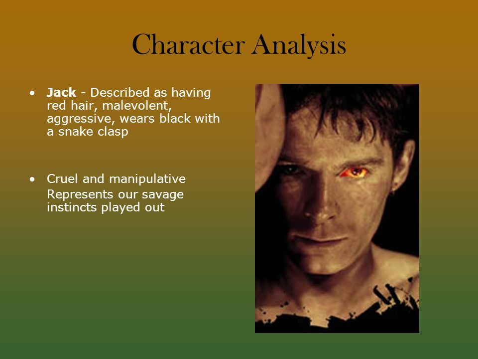 An analysis of jacks innate evil in the novel lord of the flies by william golding