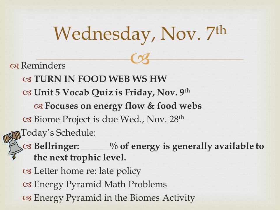 Unit 4 Ecology Vocab Remember to do a Vocab Menu Option ppt – Energy Pyramid Worksheet