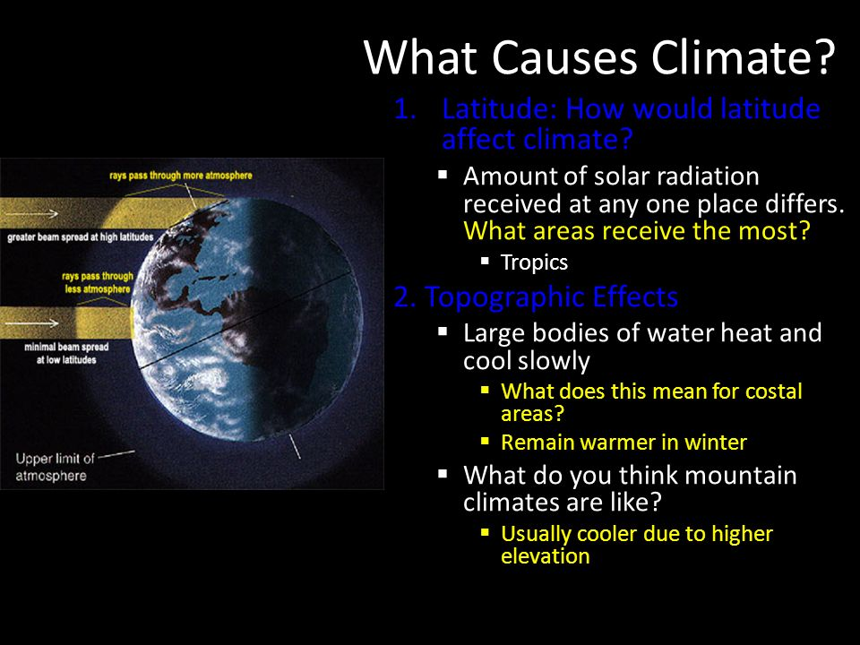 What Causes Climate Latitude: How would latitude affect climate