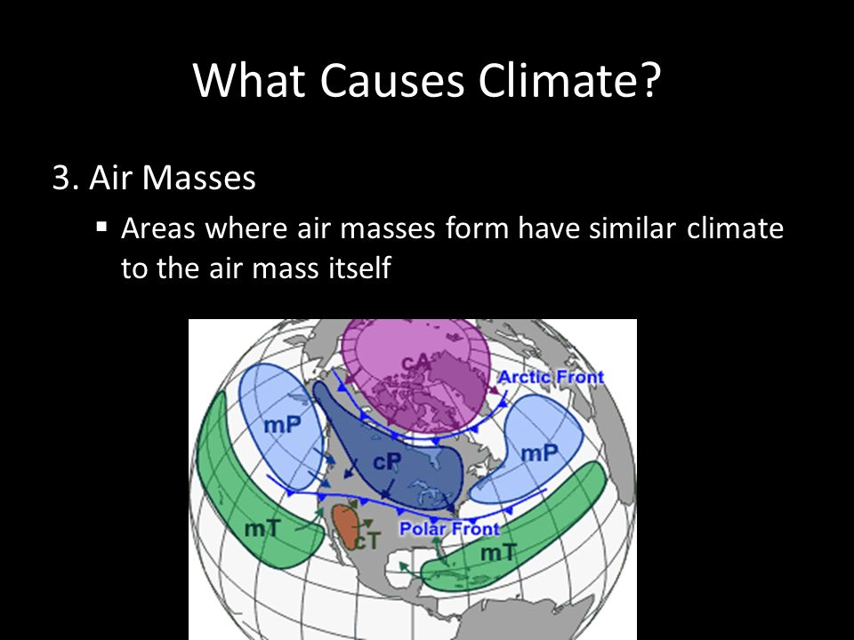 What Causes Climate 3. Air Masses