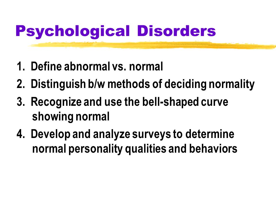 analyzing psychological disorders Analyzing psychological disorders essaysa bio-psychologist who works to help people overcome anxiety, drug or alcohol dependency or mental illnesses needs patience, understanding, and knowledge.