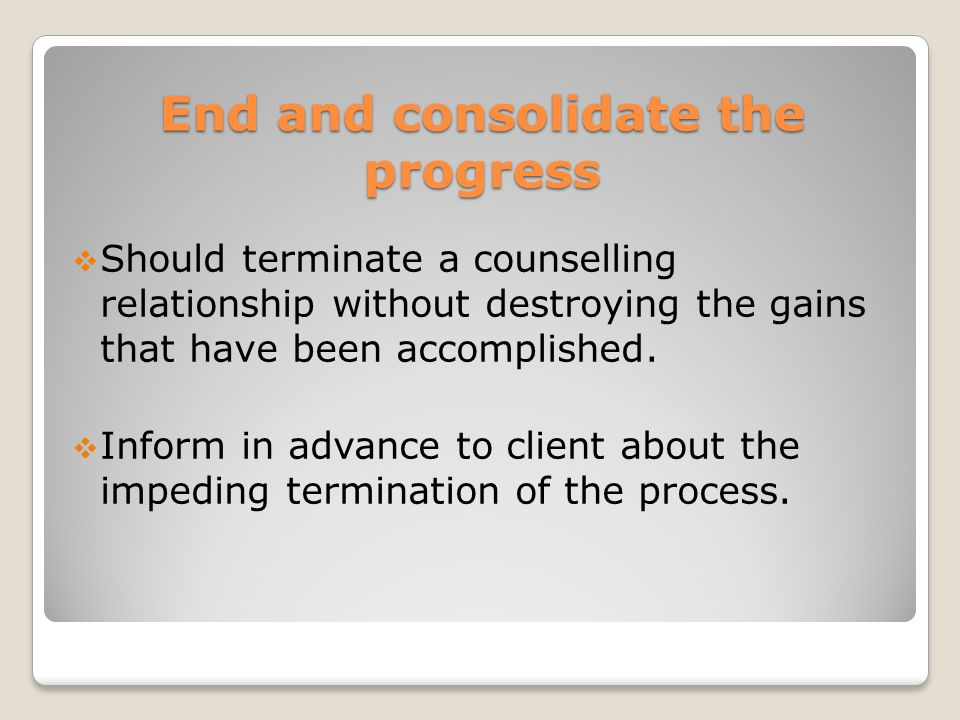 ending the counselling relationship