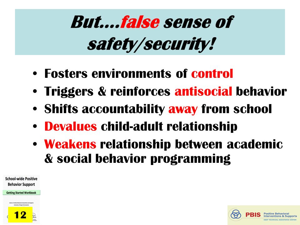 false sense of security in relationships