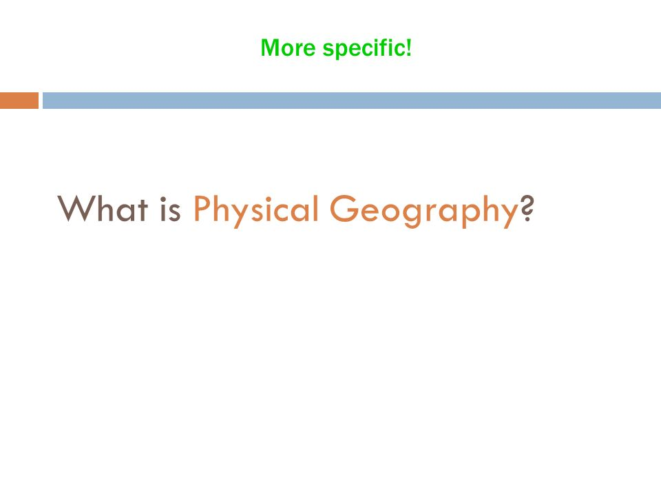 What is the discipline geography and