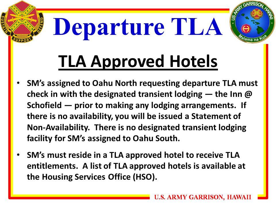 Departure Tla Roved Hotels