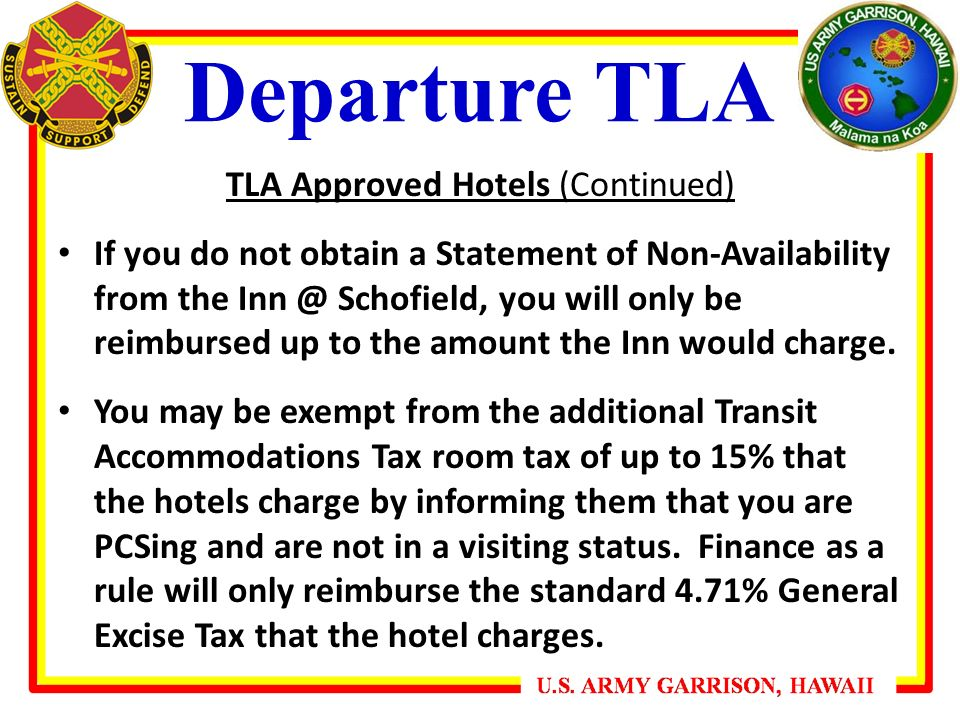 Tla Roved Hotels Continued