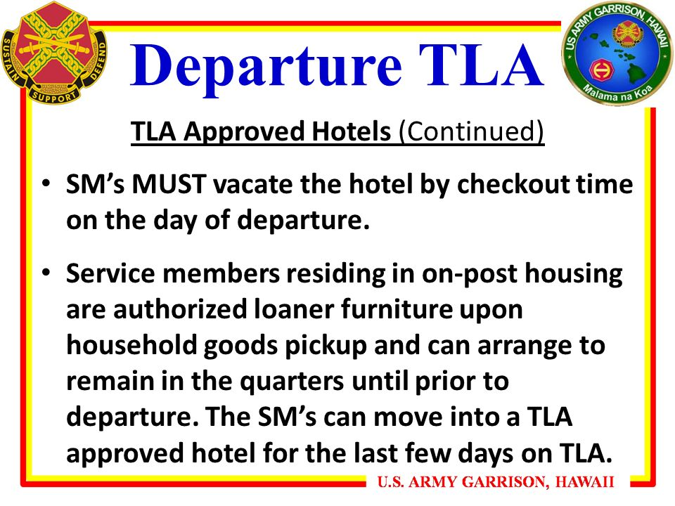 Housing Services Office Departure Tla Briefing Ppt Video Online