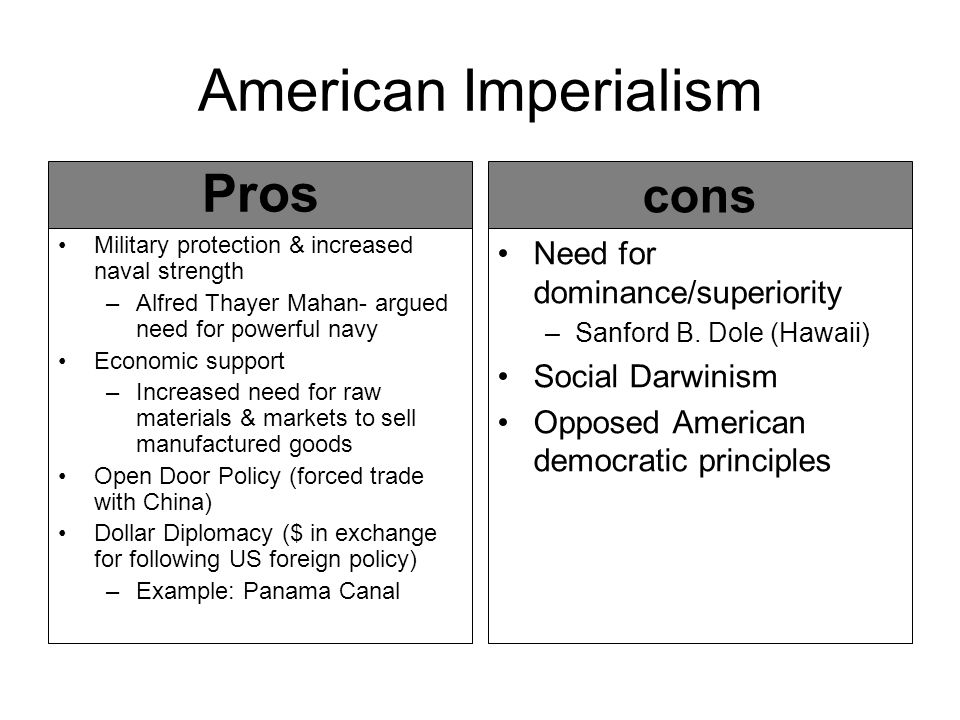 the pros and cons of imperialism essay Pros and cons of media globalization media essay  and the result was a form  of cultural imperialism, whereby the ideas and ideologies of.