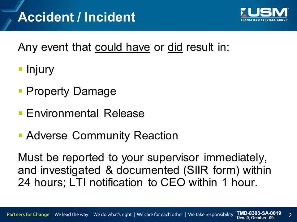 Accident Reporting Investigation  Siir  Ppt Download